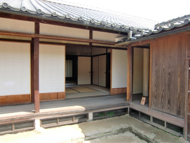 Castle town Matsusaka Castle guard residence with Tatami