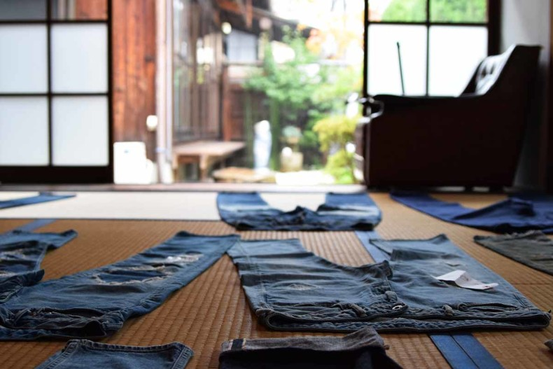 Origin of Japan denim Jeans that suits Japan/Tatami