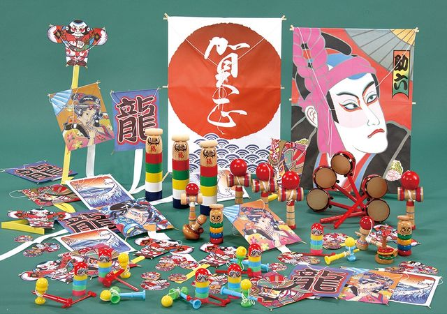 Japanese traditional culture New Year's Games on the tatami