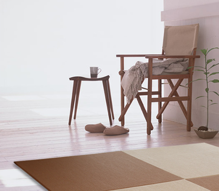 """New color"" and ""warm""  to your room Charms of  ""placing tatami mat"" that can makeover your room easily"