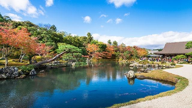 Tenryuji, the World Heritage Sogenchi Garden seen from Tatami