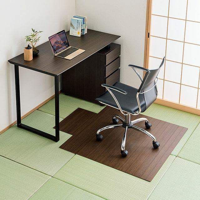 If you put chairs on the tatami, how is the bamboo chair mat?