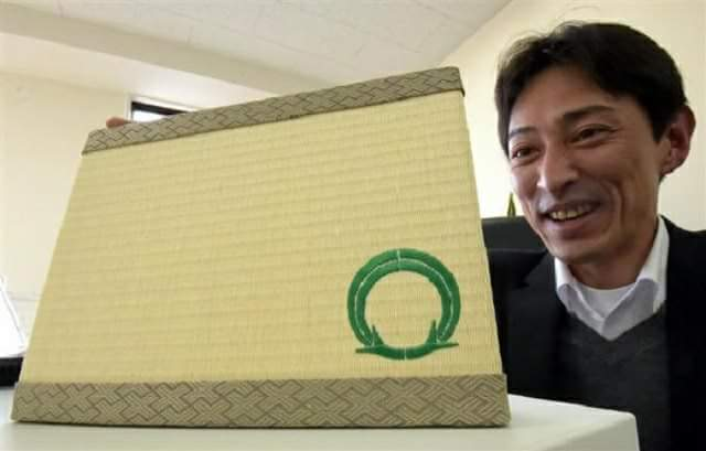 "A surveyor for a friendship city in abroad Japanese ""Mini tatami"" to appeal local"