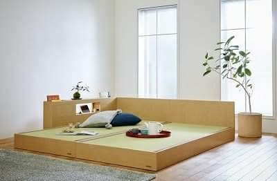 """Tatami bed"" is useful as a relaxing space"