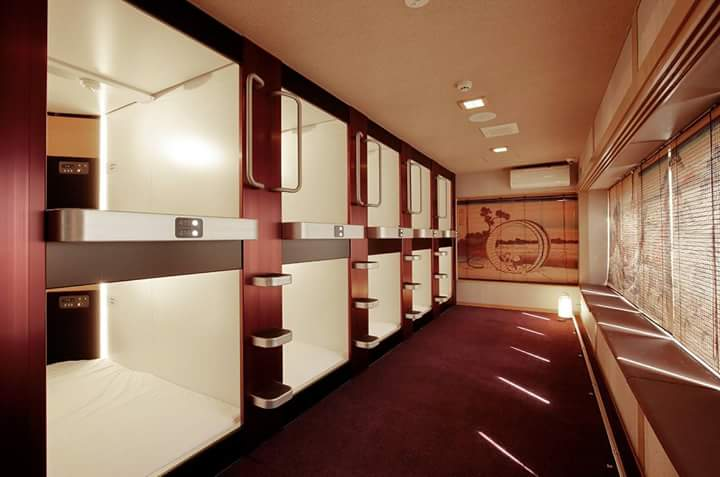 Rapidly developing Japanese capsule hotel There are spaces like the Japanese inn