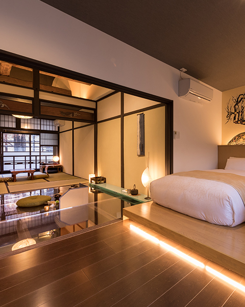Enjoy the Japanese style interior   How is the concept hotel?