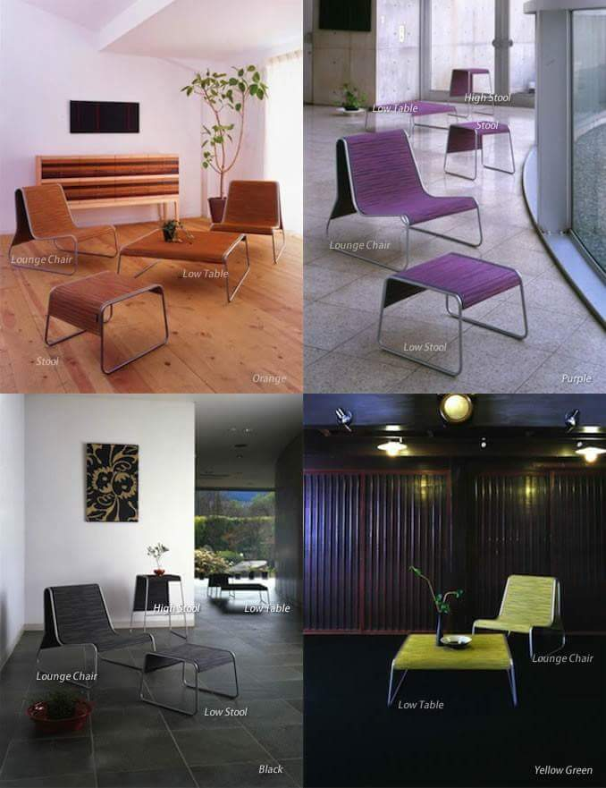 Adopted in restaurants in the Europe! The lounge chair with the tatami material
