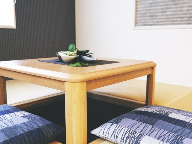 Tatami × Table Sunken Kotatsu connects both merits