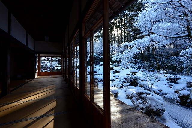 Ohara in Kyoto   Sanzen-in Temple The snowy landscape to forget the time and the attractive Japanese-style
