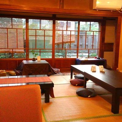 Walk around Kamakura by Kimono Luxury moments at Japanese room's cafeteria