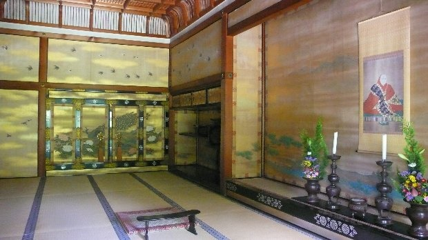 A World Heritage Ninna-ji Temple in Kyoto Tatami floored Shinden (Emperor's residence) and Shoin (drawing room)