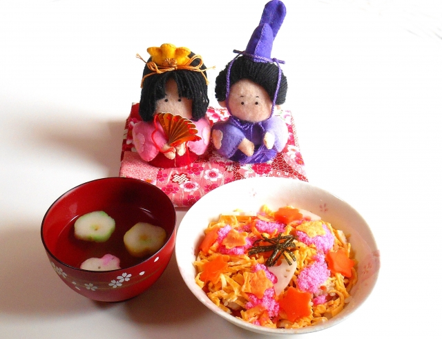 Cute and happy seasonable event Vol.2 Wishes in delicious foods at Hinamatsuri