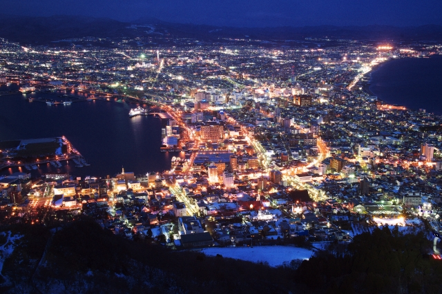 Hakodate in the summer Vol.1 The night view and the exotic townscape.