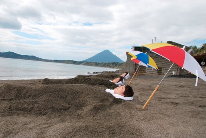 """Famous mountains in Japan, want to go at least once Mt. Kaimondake """"Satsuma Fuji"""" in Ibusuki, Kagoshima """"The sand bath"""", that is only here, and the Japanese relaxation in the hot spring"""