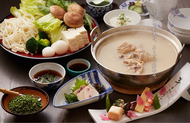 Japanese hot pot Bring out the good taste of chicken  Fukuoka's Mizutaki