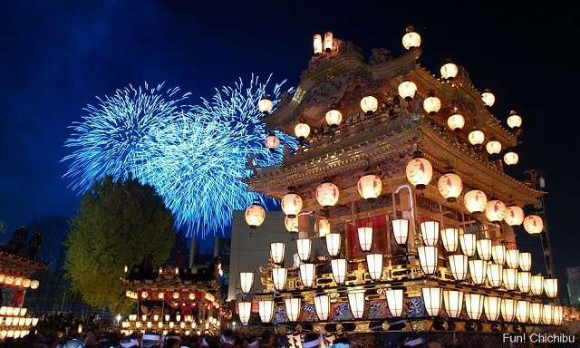 """Sounded Festival Music under the winter sky Powerful """"Chichibu Night Festival"""" and the relaxation at the inn with the Japanese atmosphere"""