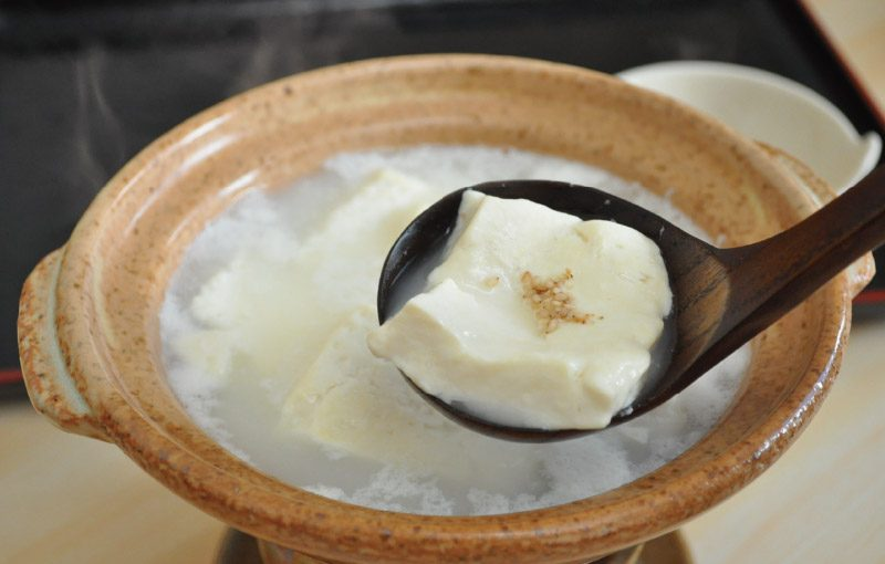 Japanese hot pot Hot spring + Tofu = melting!? Yudo-fu (boiled tofu) in Ureshino-Onsen Hot Spring