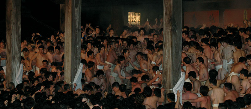 """Shouts, sounding in the winter sky, and excitements  Men's """"Naked Festival"""", payed attention from abroad"""