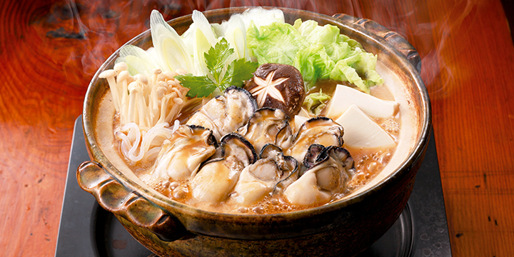 Japanese ideas to bring out the good taste of oysters  Dote Hot Pot in Hiroshima