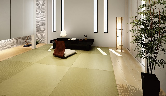 "Be comfortable during the rainy season ""The month of the water"" and the relaxation on the tatami"