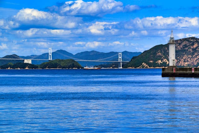 "7 islands in the Seto Inland Sea and ""Nibukawa-Onsen"" in Imabari, Ehime Go through ""Shimanami Kaido"" with the autumn breeze"